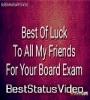 Board Exam Bast Of Luck Status Video Download