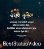 Happy Akshaya Tritiya Full Screen Status Video Download