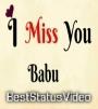 Miss U Babu Whatsapp Status Video Download